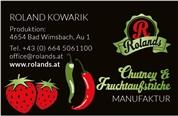Roland Kowarik -  Rolands Chutney & Fruchtaufstriche Manufaktur