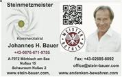KR Johannes Heinrich Bauer - Steinmetzmeisterbetrieb, Stein-Bauer