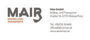 Erdbau und Transporte Mair GmbH -  Erdbau und Transporte