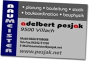 Adelbert Michael Pesjak - Baumeister Pesjak