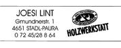 Josef Lint - Holzwerkstatt-Lint