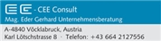 Mag. Gerhard Johann Eder -  EG-CEE Consult