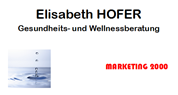 Elisabeth Hofer - MARKETING 2000