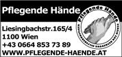 Verein zur Betreuung hilfsbedürftiger Menschen - Pflegende Hände - Pflegende Hände