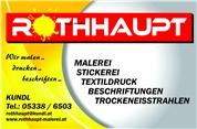 Werbetechnik Malerei Tirol Rothhaupt Stickerei Textildruck