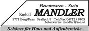 Rudolf Mandler - Betonwaren-Stein  Rudolf Mandler