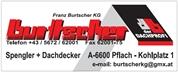 Franz Burtscher KG - Spengler, Dachdecker, Bauwerksabdichter