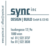 sync inc DESIGN BUILD GmbH & Co KG - Sync Inc Design Build GmbH & Co KG