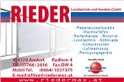 RIEDER Landtechnik- und Handels-GmbH - RIEDER Landtechnik- und Handels-GmbH