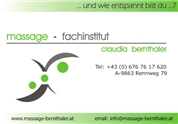 Claudia Bernthaler - Massage-Fachinstitut