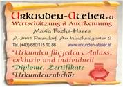 Maria Fuchs-Hesse -  Urkunden-Atelier e.U.