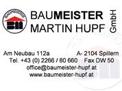Baumeister Martin Hupf GmbH - Baumeisterbetrieb
