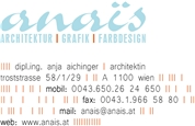 Dipl.-Ing. Anja Barbara Aichinger - anaïs | architektur.grafik.farbdesign