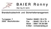 Dipl.-Ing. Dr. Ronny Markus Baier - Brandschutztechnik & Sicherheitsmanagement
