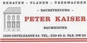 Peter Kaiser - Kaiser Peter   -   Baumeister   -   Baubetreuungsbüro