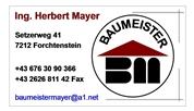 Ing. Herbert Edmund Mayer - Baumeister