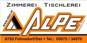 ALPE Zimmerei und Tischlerei GmbH - ALPE Holzbau Holzhäuser Zimmerei Tischlerei Stiegenbau Holztreppen Steiermark, Betriebsstätte in 8753 Fohnsdorf, Josef Ressel Gasse 2