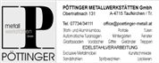 METALLWERKSTÄTTEN PÖTTINGER GmbH - Metallwerkstätten Pöttinger GmbH