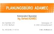 Ing. Gerhard Adamec -  Planungsbüro und Internationale Vertriebsförderung