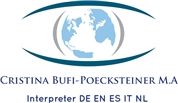 Mag. Cristina Bufi-Pöcksteiner, M.A. - Dolmetscher Übersetzer • Translator Interpreter • ITA • DE • EN • FR • ES • (NL)
