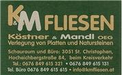 Köstner & Mandl OG - K & M Fliesen