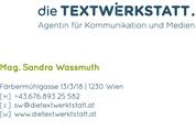 die Textwerkstatt - Agentur für Kommunikation und Medien e.U. - die Textwerkstatt | Agentur für Kommunikation und Medien