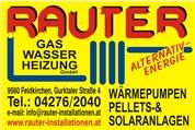 RAUTER Gas Wasser Heizung GmbH - Rauter Installationen Feldkirchen