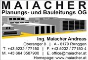 Maiacher Planungs- und Bauleitungs-OG - Planung und Bauleitung