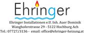 EHRINGER Installationen e.U. Inh. Auer Dominik - Ehringer Installationen
