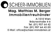 Mag. Matthias Berger - Scheer Immobilien - Mag. Matthias M. Berger Immobilientreuhänder