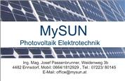 Ing. Mag. Josef Passenbrunner - MySUN Photovoltaik® Elektrotechnik