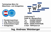 Ing. Andreas Rupert Weinberger - TWP Technisches Büro für Maschinen - & Anlagenbau