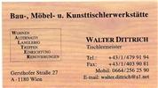 Walter Dittrich - Tischlerei Dittrich