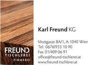 Karl Freund KG - Tischlerei, Zimmerei