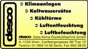 desco KÄLTE-KLIMA-RÜCKKÜHLTECHNIK GmbH