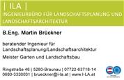 Martin Brückner, B.Eng. -    ILA   Ingenieurbüro für Landschaftsplanung und Landschaftsarchitektur