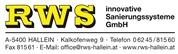 RWS INNOVATIVE SANIERUNGSSYSTEME GMBH - RWS innovative Sanierungssysteme GmbH