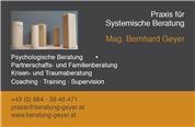 Mag. Bernhard Geyer -  Praxis für Systemische Beratung