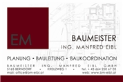 Baumeister Ing. Manfred Eibl GmbH -  Planender Baumeister
