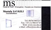 Mustafa Saykili - MS-Aluminium- und Stahlkonstruktionen