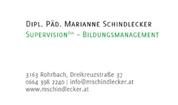 Marianne Schindlecker - Supervision
