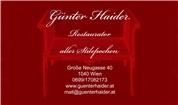 Günter Haider - Restaurator Günter Haider
