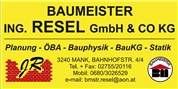 Baumeister Ing. Resel GmbH & Co KG -  Baumeister Ing. Resel GmbH & Co KG