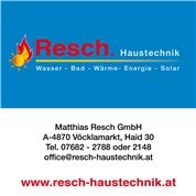 Matthias Resch Gesellschaft m.b.H. - Wasser-Bad-Wärme-Energie-Solar