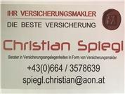 Christian Spiegl - Berater in Versicherungsangelegenheiten in Form von Versicherungsmakler