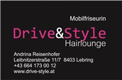 Andrina Gabriela Heidinger -  Drive & Style Mobilfriseurin